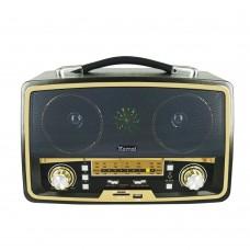 Kemai MD-1701BT Şarjlı Nostaljik Bluetooth Hoparlör Fm Radyo USB/SD/MP3