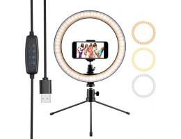 RING BEAUTY CT-001 LED Selfie Işığı Telefon Tutuculu Tripod